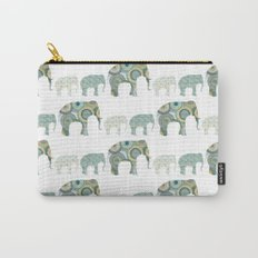 Menagerie Elephants Sage Carry-All Pouch