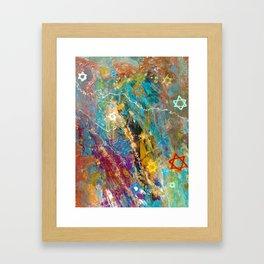 Star of David Abstract Framed Art Print
