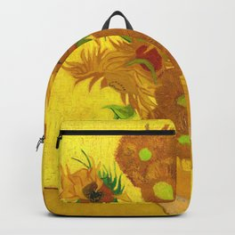Vincent Van Gogh Fifteen Sunflowers In A Vase Backpack