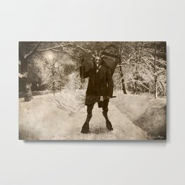 Dark Victorian Portrait: Krampus Metal Print