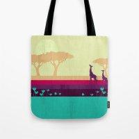 safari Tote Bags featuring Safari by Kakel