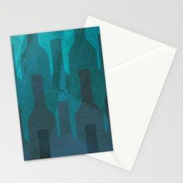 Blue wine Stationery Cards
