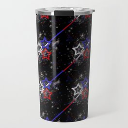 Stars and Stripes Pattern Travel Mug