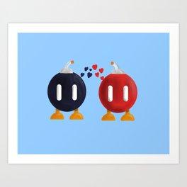 Bomb-Omb Love Art Print