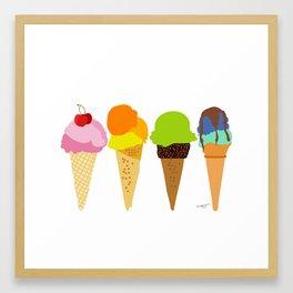 Ice cream cone  Framed Art Print