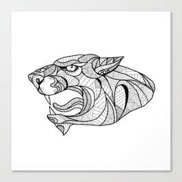 Panther Head Zentagle Canvas Print