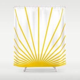 Ray of sunshine Shower Curtain