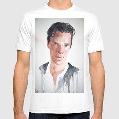 Sherlock, Benedict Cumberbatch Mens Fitted Tee MEDIUM White