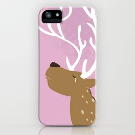 Crying Deer iPhone Case