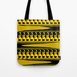 BRIGHT YELLOW AND BLACK PATTERN 3D EFFECT FOR FUNKY DECOR Tote Bag