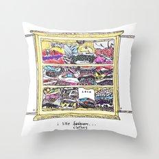 A Fine Line Throw Pillow