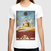 thailand T-shirts featuring Buddha Thailand by Adrian Evans
