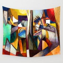 Albert Gleizes Cubist Landscape Wall Tapestry