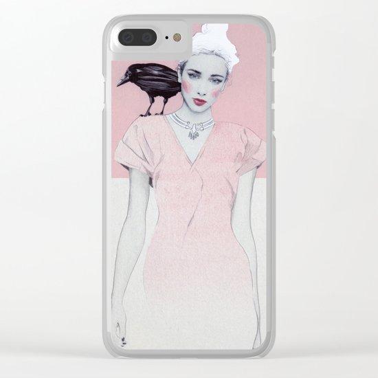 Pracilla Clear iPhone Case