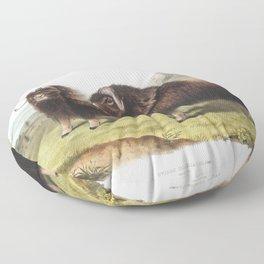 Cherry (Ciliegio visciolino) from Pomona Italiana (1817 - 1839) by Giorgio Gallesio (1772-1839) Floor Pillow