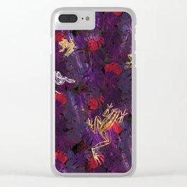 Shining Jungle Jam Clear iPhone Case