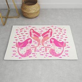 Koi Mermaids – Pink Palette Rug