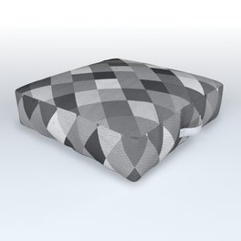 Black and White Harlequin Outdoor Floor Cushion