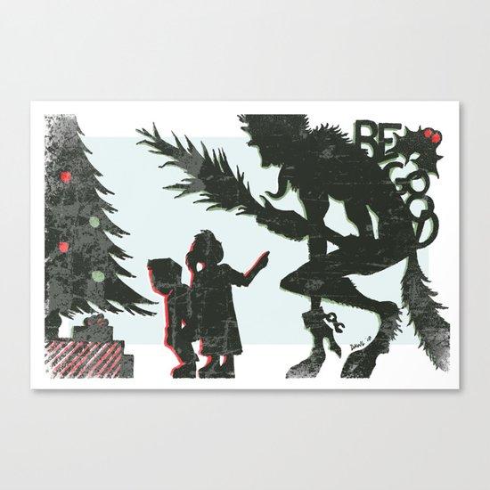 Be Good Krampus Canvas Print