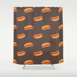 hot dog pattern Shower Curtain