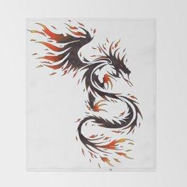 Spirit of Fire Dragon Throw Blanket