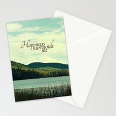 Happiness Surrounds Me Stationery Cards