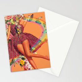 Open heart open mind Stationery Cards