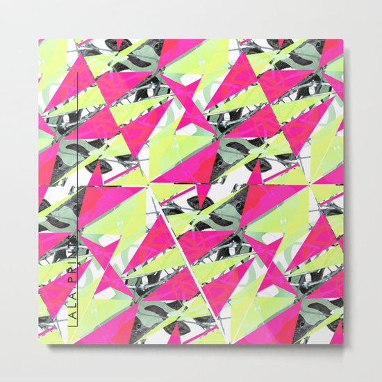 Colorful Triangles. Metal Print