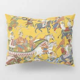 King Dasaratha and His Retinue Proceed to Ramas Wedding Folio from the Shangri Ramayana Series (Styl Pillow Sham
