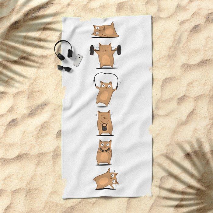 FITNESS CAT Beach Towel