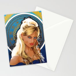 Art Nouveau Girl Stationery Cards
