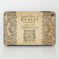hamlet iPad Cases featuring Shakespeare, Hamlet 1603 by BiblioTee