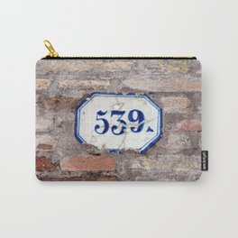 Number 539 on brick wall Carry-All Pouch