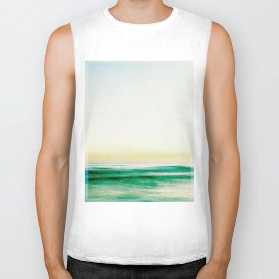 where the sea meets the sky Biker Tank