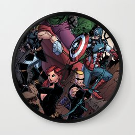 Marvelous Heroes Wall Clock