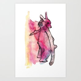 Weird Bear Art Print
