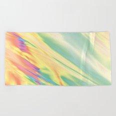 IRIDESCENT RAINBOW WATER Beach Towel