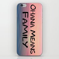 ohana iPhone & iPod Skins featuring Ohana by Amy Copp
