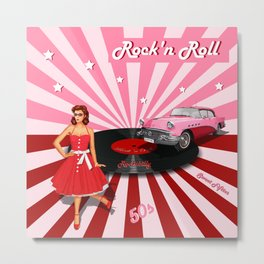 Rock'n Roll the sweet Fifties Metal Print