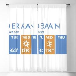 Alderaan 5 Day Forecast Blackout Curtain