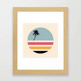 Retro Sunset 01 Framed Art Print