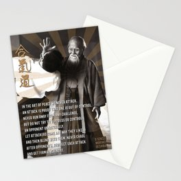 Aikido, Morihei Ueshiba, Art of Peace, Aikido Dojo Decoration Stationery Cards