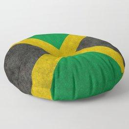 Jamaican flag, Vintage retro style Floor Pillow