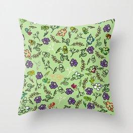 Spring-a-ding Throw Pillow