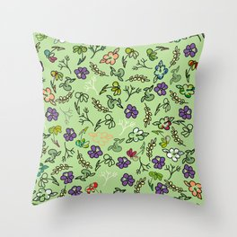 Spring-a-ding Throw Pillow
