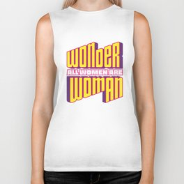 Wonderful Woman Biker Tank