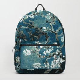 Van Gogh Almond Blossoms : Dark Teal Backpack