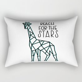 Reach for the Stars - Teal Rectangular Pillow