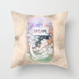 Dream Jar Throw Pillow