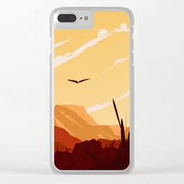 West Texas Landscape Clear iPhone Case